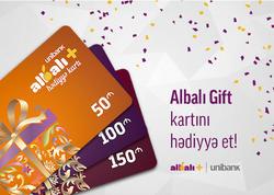 """Unibankın """"Albalı Gift"""" kartı sərfəli korporativ Yeni il hədiyyəsidir"""