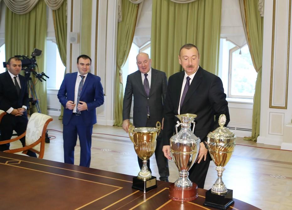 Prezident İlham Əliyev Avropa çempionu olan şahmat millimizi qəbul edib - FOTO
