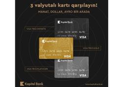 Visa Trio - manat, dollar və avronu birləşdirən kart