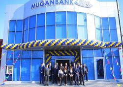 """Muğanbankın 25-illik yubileyi ərəfəsində bankın """"İsmayıllı"""" filialının yeni binasının təntənəli açılış mərasimi olub"""