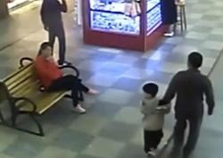 Ata 9 ay əvvəl qaçırılan oğlunu ticarət mərkəzində tapdı - VİDEO - FOTO