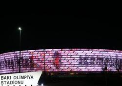 """Bakı Olimpiya Stadionunundan """"Beşiktaş""""a dəstək - FOTO"""