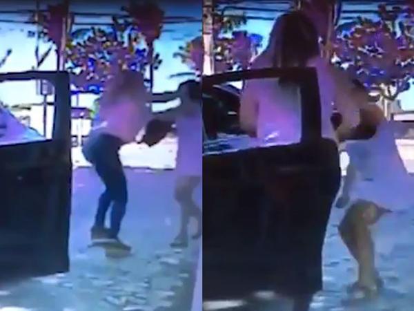 Ana 13 yaşlı qızının önündə bıçaqlandı - VİDEO - FOTO