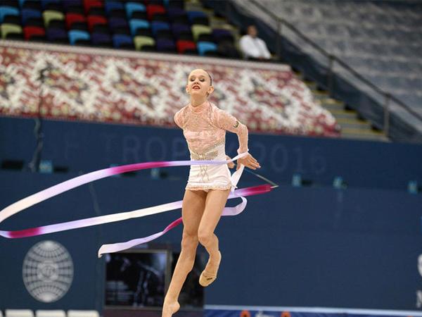 Bakıda 4 növ gimnastika üzrə birləşmiş yarışları bədii gimnastlar və aerobika təmsilçiləri davam etdirib - FOTO