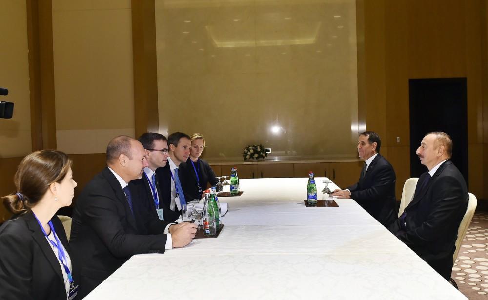 Prezident İlham Əliyev Estoniyanın xarici işlər nazirini qəbul edib - FOTO