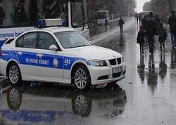 """Yol polisi yağışdan danışdı: """"Sürəti hava şəraitinə uyğun seçin"""""""