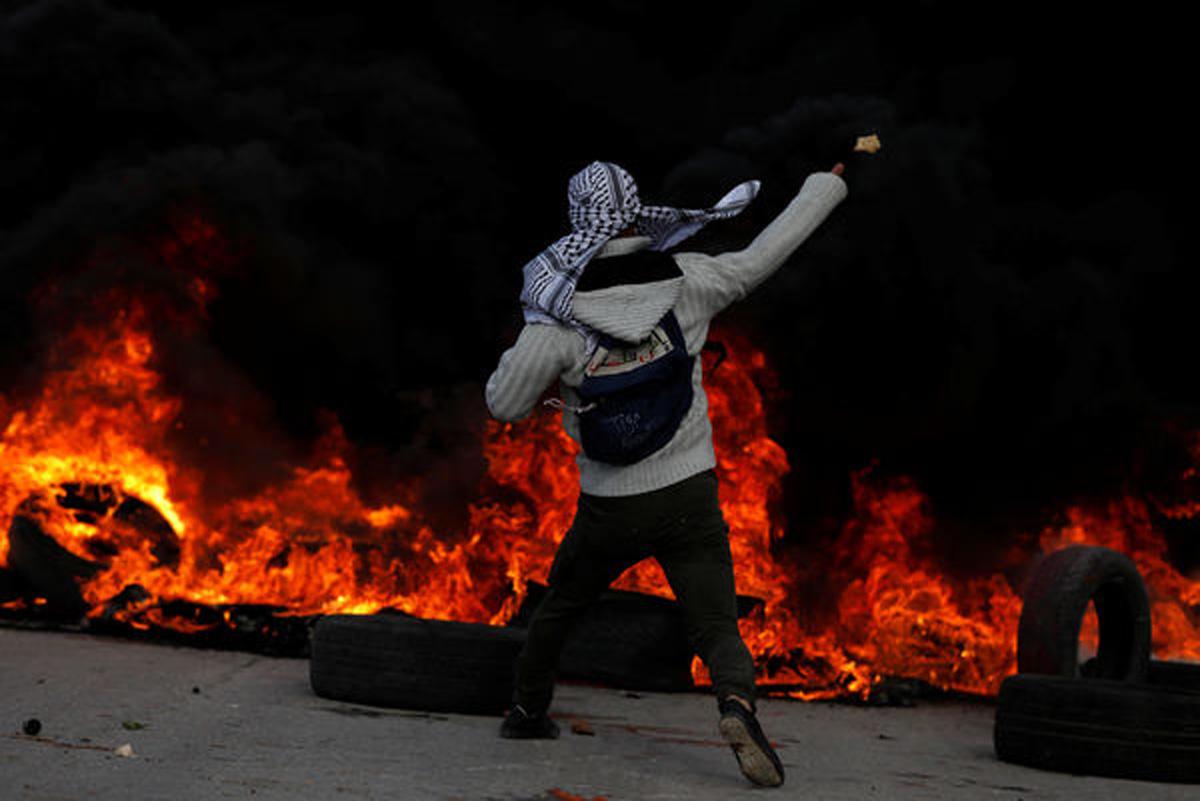 Vəziyyət gərginləşir: İsrail polisi ilə fələstinlilər arasında qarşıdurma - FOTO