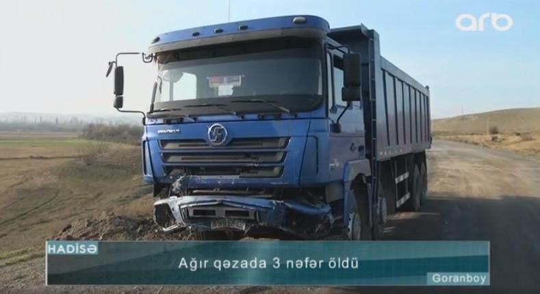 """Goranboyda """"06"""" yük maşını ilə toqquşdu: 2 qardaş öldü - VİDEO - FOTO"""