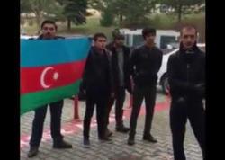 Türkiyədə Ermənistan bayrağına görə Azərbaycan bayrağı endirildi, tələbələr etiraza qalxdılar - VİDEO