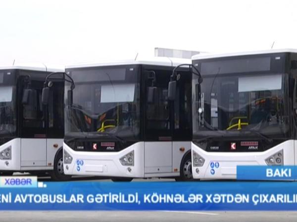 Sərnişinlərə xoş xəbər: avtobuslar yeniləndi - VİDEO - FOTO