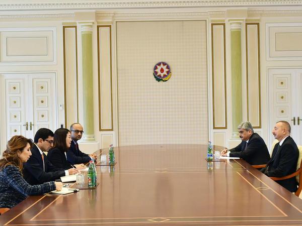 Prezident İlham Əliyev Dünya Bankının nümayəndə heyətini qəbul edib - FOTO