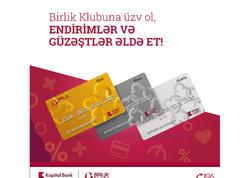 """""""Birlik Klubu""""na qoşul, endirim və güzəştlər əldə et"""