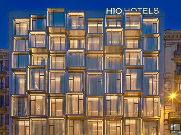 Barselonada işıqlı kublu otel - FOTO