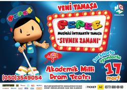 """Bakıda """"Pepee - Sevmek Zamani"""" musiqili interaktiv yeni tamaşa göstəriləcək"""