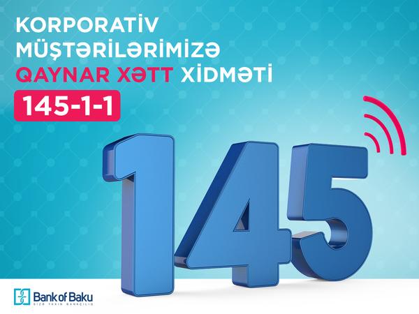 Bank of Baku-nun 145 Məlumat Mərkəzindən korporativ müştərilərə ÖZƏL xidmət!