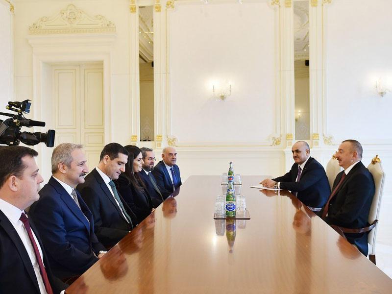 Prezident İlham Əliyev türkiyəli nazirin başçılıq etdiyi nümayəndə heyətini qəbul edib - FOTO