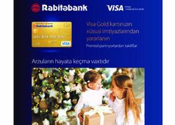 Rabitəbankın Visa Gold kartı ilə Sevgililər günü yaxınlarınızı sevindirin!