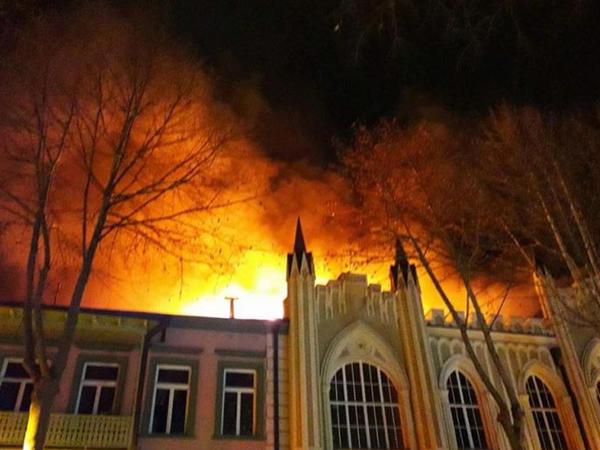 Tbilisidə güclü yanğın baş verib - FOTO