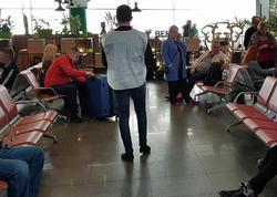 """Ermənilər hava limanında """"Xocalı"""" aksiyasına mane olmaq istədilər- VIDEO - FOTO"""