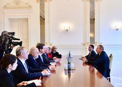 Prezident İlham Əliyev Amerika Yəhudi Komitəsinin prezidentinin başçılıq etdiyi nümayəndə heyətini qəbul edib