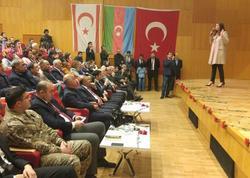 Qənirə Paşayeva İstanbulda Xocalı soyqırımı ilə bağlı tədbirdə çıxış edib - FOTO