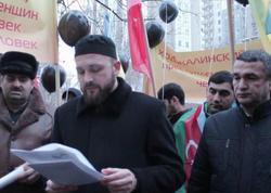 Ermənistanın Baş Konsulluğu qarşısında etiraz aksiyası keçirildi - FOTO