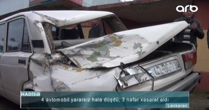 """""""Mənim maşınıma dəyib, digərinin üstünə aşdı"""" - Lənkəranda QƏZA - VİDEO - FOTO"""