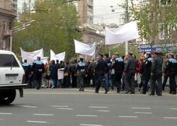Yerevanda jurnalistərin etiraz aksiyası keçirilir