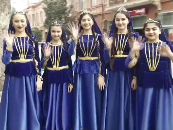 Gəncədə Novruz bayramı belə qarşılandı - VİDEO