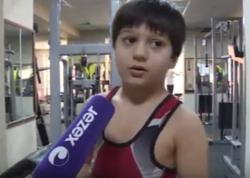 7 yaşı var, amma peşəkar idmançıların məşq proqramlarını icra edir - VİDEO