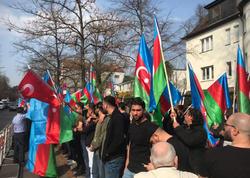 Berlində azərbaycanlıların həmrəylik aksiyası keçirilib - FOTO