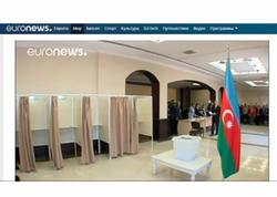"""""""Euronews"""" Azərbaycandakı prezident seçkiləri ilə bağlı reportaj yayımlayıb"""