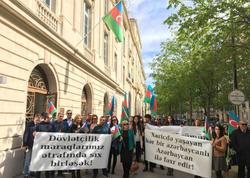 Azərbaycanlıların Parisdə həmrəylik aksiyası keçirilib - FOTO