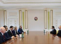 Prezident İlham Əliyev Türkiyə-Azərbaycan parlamentlərarası dostluq qrupunun həmsədrini qəbul edib