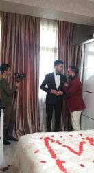 Azərbaycanlı teleaparıcının toyundan ilk FOTOLAR