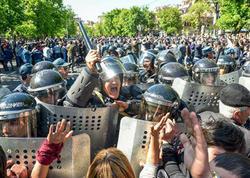 Ermənistanda etiraz aksiyalarında iştirak edən 83 nəfər tutuldu - YENİLƏNİB