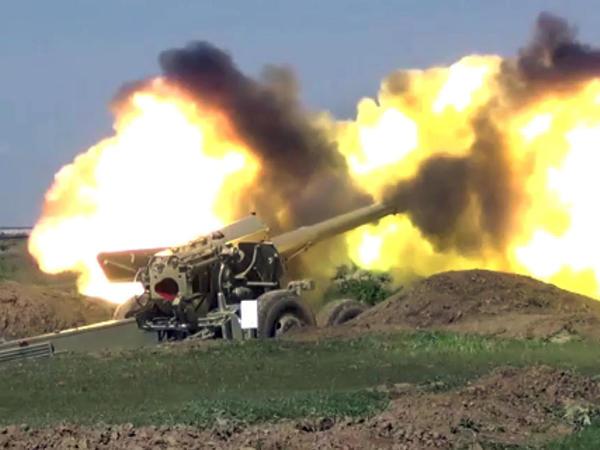 Raket və artilleriya bölmələrinin taktiki təlimləri keçirilib - FOTO