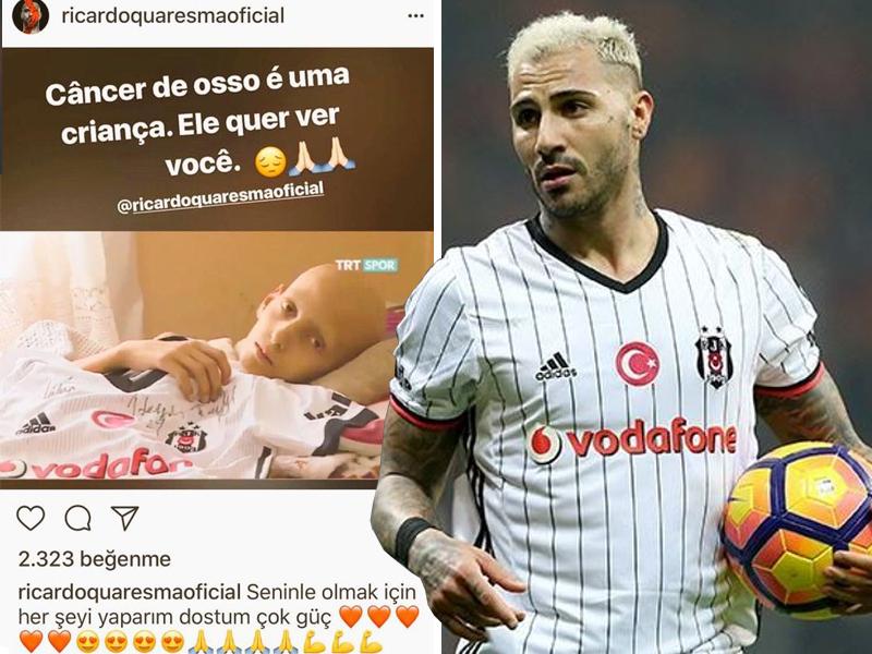 """""""Beşiktaş""""ın ulduzu xərçəng xəstəsi uşağa: """"Sənin üçün hər şeyi edərəm, dostum!"""" - FOTO"""