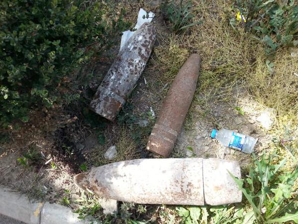 Bakıda polis bölməsində 3 top mərmisi aşkarlanıb - FOTO