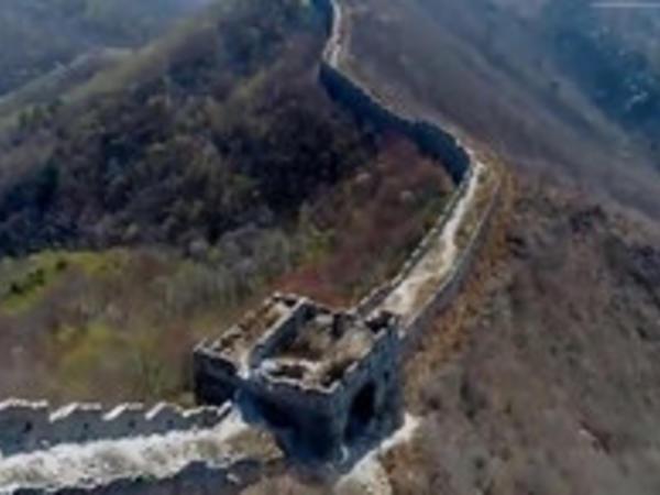 Böyük Çin səddinin baxımsız qalmış hissəsi dronla çəkildi