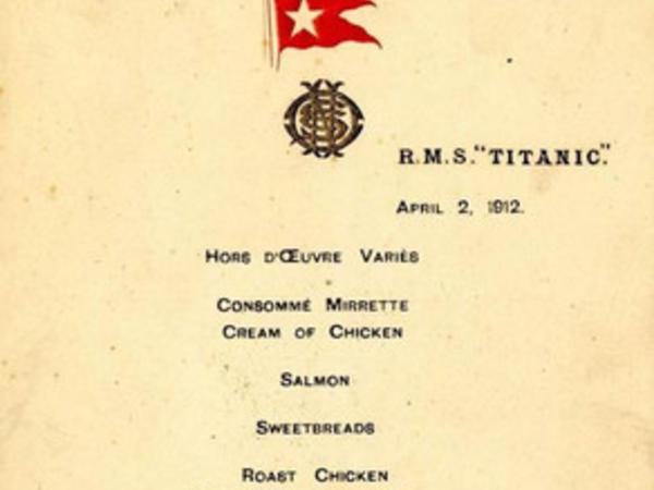 """""""Titanik""""də ilk naharın menyusu 140 min dollara satılıb"""