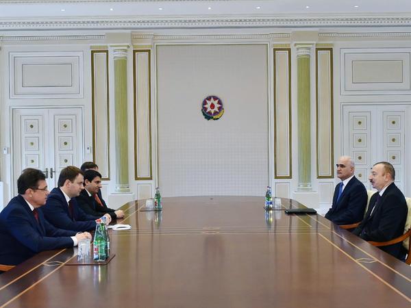 Prezident İlham Əliyev Rusiyanın iqtisadi inkişaf nazirini qəbul edib