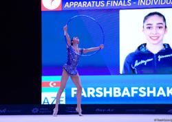 """Azərbaycan gimnastı """"AGF Junior Trophy""""də halqalarla hərəkətlərdə bürünc medal qazanıb - FOTO"""