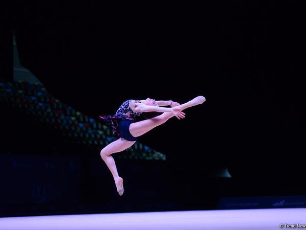 """Rusiya gimnastı """"AGF Junior Trophy""""də gürzlərlə hərəkətlərdə qızıl medal qazanıb"""