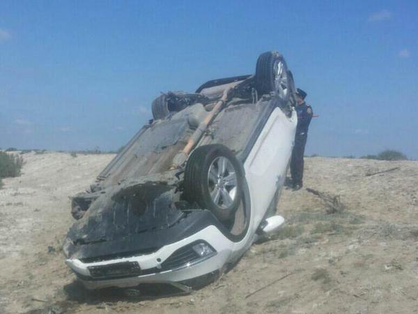 """Qadın sürücü avtomobili aşırdı: <span class=""""color_red"""">ölən və yaralananlar var - YENİLƏNİB - FOTO</span>"""