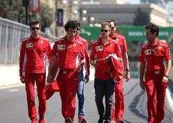 Formula-1 ulduzları Bakıda yolu yoxladılar - FOTO