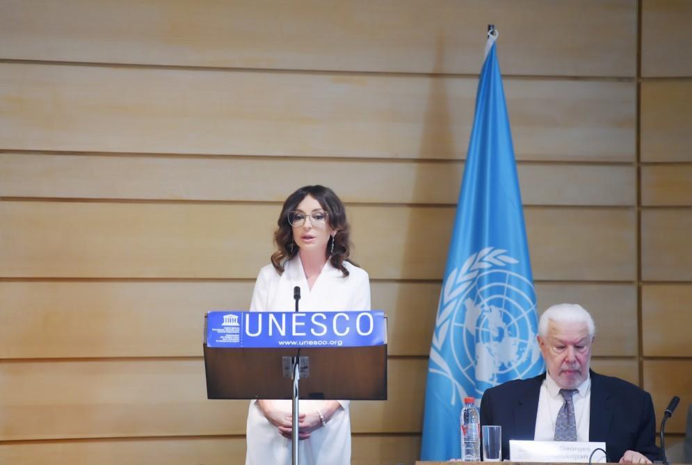 AzÉrbaycanın Birinci vitse-prezidenti Mehriban Æliyeva ParisdÉ UNESCO-nun sabiq baÅ direktorunun 80 illiyi münasibÉtilÉ konfransda iÅtirak edib - FOTO