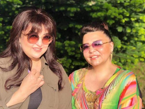 Xalq artisti Ceyran Rəhimova ilə fotolarını paylaşdı