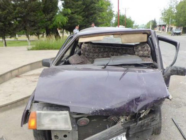Yol qəzasında 4 nəfər xəsarət alıb - FOTO