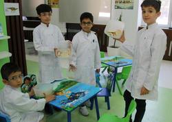"""""""Uşaqlar üçün ekoloji laboratoriya"""" layihəsi çərçivəsində paleontologiya mövzusunda təlim keçirilib - FOTO"""